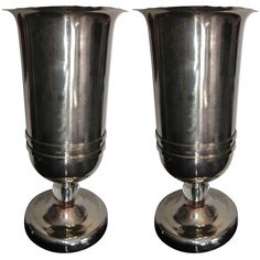 Pair French Art Deco Torchiere Lamps | From a unique collection of antique and modern table lamps at https://www.1stdibs.com/furniture/lighting/table-lamps/