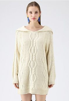It's Like That Cable Knit Dress