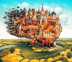 Fantasia Fantastic Images Imagination Jacek Worlds Painting Surreal Yerka