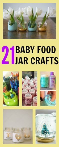 21 epic baby food jar crafts #diy If you like this then check out the Home Decor at designsbynn.com