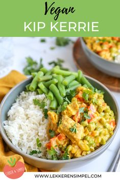 Vegan kip kerrie We have made a very tasty vegan chicken curry recipe. Healthy Summer Recipes, Healthy Meals For Two, Vegan Dinner Recipes, Healthy Dessert Recipes, Night Dinner Recipes, Vegetarian Recipes, Pureed Food Recipes, Veggie Recipes, Whole Food Recipes