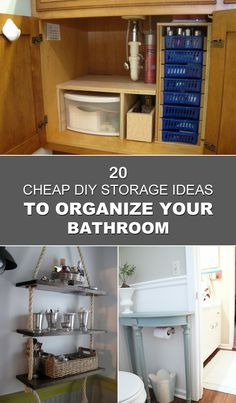 Superb 20 Cheap DIY Storage Ideas To Organize Your Bathroom