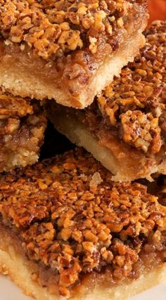 Whisky Pecan Pie Bars ~ Classic pecan pie filling is spiked with ...