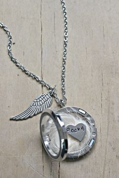 A few tears were shed making this special necklace not long after my beautiful Rocky passed, he was 14 years old and the best thing that ever