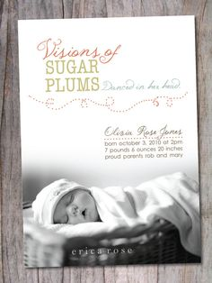 absolutely the sweetest announcement for a Christmas baby.