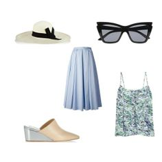 modern day Grace Kelly outfit