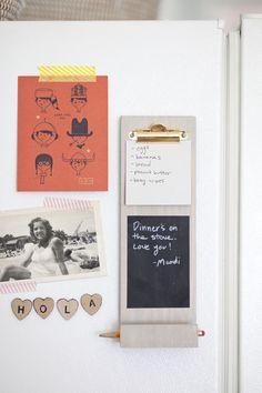 Portapapeles notas DIY- magnéticas en el refrigerador en realidad puede parecer…
