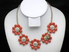 KATE SPADE Enamel Rhinestone Gold Plated Flower Bumble Bee Necklace #KateSpade