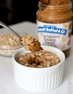 Peanut Butter Cinnamon Oatmeal Mug Cake + Giveaway | Brownie Bites Blog (sub out milk for almond milk, easy peasy!)