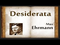 Desiderata by Max Ehrmann - Poetry Reading