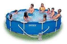 Great 12 foot  outdoor garden swimming  pool for spending time with family its awesome