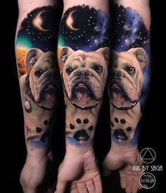 Space Bulldog tattoo by @inkbysaga at Boss Tattoos in Calgary Alberta #inkbysaga #sagaanderson #bosstattoos #calgary #alberta #canada #englishbulldog #englishbulldogtattoo #bulldog #bulldogtattoo #dogtattoo #spacetattoo #tattoo #tattoos #tattoosnob