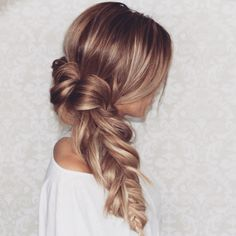 Pull through fishtail messy braid by @blohaute - www.blohaute.com -- download Blohaute in the iTunes App Store!