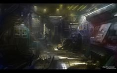 A cyberpunk afternoon by alexdrummo. #Cyberpunk #Art #gosstudio .★ We recommend Gift Shop: http://www.zazzle.com/vintagestylestudio ★