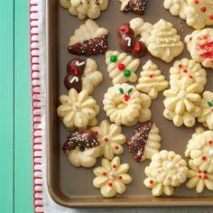 Buttery Spritz Cookies + 150 Christmas cookies