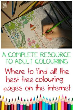 Our Ultimate guide to adult colouring pages including over 300 pages, the best supplies and everything you need to know about the adult coloring craze. Where to find all the best free colouring pages on the internet. A complete resource to adult colouring