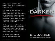 Read the first set of books like 4 times. Read Grey, now reading Darker. The books are soooo much better than the movies! As usual. Lol