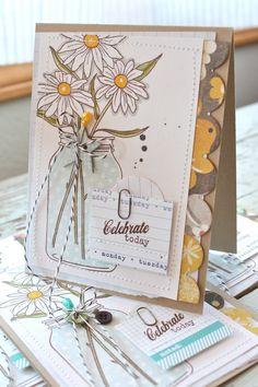 Mish Mash: Friendship Jar cards...using Gossamer Blue kit items