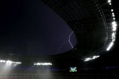 Euro 2012 Lightning storm suspends match between France and Ukraine