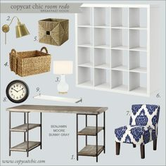 | Copy Cat Chic | chic for cheap: Copy Cat Chic Room Redo | Ikat Office