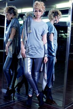 #RightLove 2012 Collection  Dancer Dancer Dancer  Dancer Pocket Tshirt  Silver Sequin Outer Silver Sequin Legging