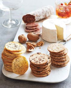 Homemade Crackers | Martha Stewart Living - Homemade Crackers (In the Freezer) Turn a simple cheese platter into something special with homemade crackers.