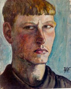 fuckjagermanexpressionism:  Otto Dix Self Portrait, 1912.