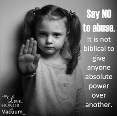We will not end abuse until we end power structures which give husbands, elders, pastors, or churches power over others.
