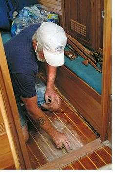 Brightwork beauty treatments fall into three general categories: oils, varnishes and synthetic wood finishes. Sailboat Living, Living On A Boat, Sailboat Interior, Yacht Interior, Wooden Boat Plans, Wooden Boats, Wooden Sailboat, Sailboat Restoration, Trawler Boats