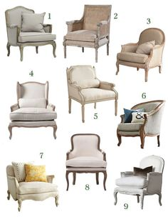 a Bergére is the Perfect Chair and Where to Find the Best Ones! Why a Bergere is the Perfect Chair!Why a Bergere is the Perfect Chair! Diy Furniture Couch, Furniture Logo, French Furniture, Farmhouse Furniture, Classic Furniture, Furniture Makeover, Living Room Furniture, Modern Furniture, Furniture Design