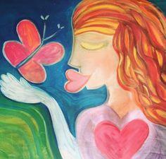 Sending LOVE VIBES ...enviándote vibraciones de amor y de transformación personal! Besos mariposas para  recordar nuestro poder interior BUTTERFLY KISS  Transformational vibes! #happyartbypato #patogilvillalobos #inspirarte #arte #artenaif #happyartistmovement #happyartist #instaartist #instaartista #puntadeleste #joseignaciosininstagram #joseignacio