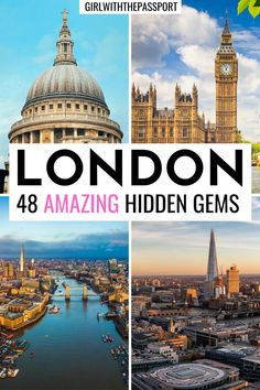 Want to visit London like a local but have no idea where to go or what to see in London? Then check out this London guide, written by a frequent London Traveler, which will help you get off the beaten path and plan a unique trip to London with 48 unusual things to do in London that everyone will love! Things you can easily add to your London itinerary to help you plan the perfect, London trip. London Hidden Gems | London Photo Spots | #London #LondonTravel #England #VisitLondon #LondonTrip
