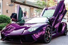 Gorgeous Purple chrome galaxy Lamborghini Aventador