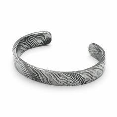 ABTEI KÖNINGSMÜSTER ~ Raw Damascus Steel Bracelet, Narrow