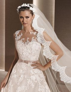 ROBY - Princess wedding dress, in beige | La Sposa                                                                                                                                                      Mais