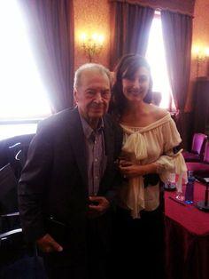 María José Montiel with maestro Rafael Frühbeck de Burgos Mezzo Soprano, Ruffle Blouse, Women, Fashion, World, Teachers, Musica, Moda, Fashion Styles