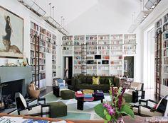Den & little tv room bookshelves