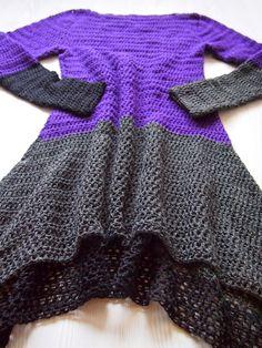 Crochet Tunic, Crochet Jacket, Crochet Clothes, Knit Crochet, Crochet Dresses, Knit Cardigan, Knit Dress, Crochet Fashion, Unique Outfits