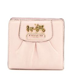 adorable light pink Coach Wallet available at #FashionProject <3 #giveandget