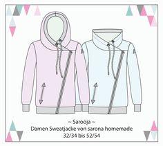 Nähanleitungen Mode - Ebook Sarooja - Sweatjacke für Damen Gr. XS-4XL - ein Designerstück von StoffLoft bei DaWanda