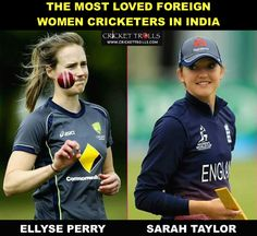 There is hardly an Indian cricket fan these days who does not love Ellyse Perry & Sarah Taylor  #WWC17 Comment if you have any other non-Indian favourite women cricketer! - http://ift.tt/1ZZ3e4d