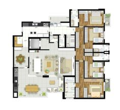 Layouts Casa, House Layouts, Home Building Design, Building A House, House Design, Apartment Floor Plans, House Floor Plans, Pent House, My Dream Home