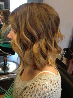 Wavy Bob Hair with Ombre