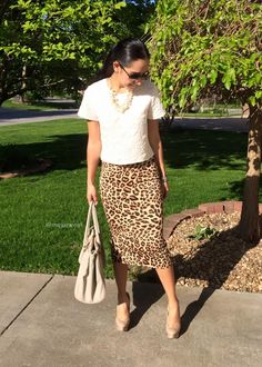 Leopard pencil skirt | Mexi-Sweet