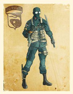 World War II Snake Eyes by El-Mono-Cromatico.deviantart.com on @deviantART
