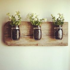 "This is a DIY,""Mason Jar Wall Planter"", shown on, ""Splascore Influenster"", very nice!"