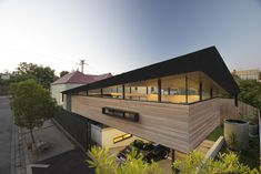 Architecture, Romantic Half Open Upper Mullet House Idea Designed By March Studio: Wonderful House Extension with Modern Design from Australia Houses Architecture, Studios Architecture, Architecture Design, Timber Battens, Suburban House, Art Deco, Cottage Style Homes, Cottage House, House Extensions