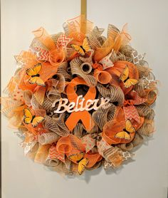 Leukemia Awareness Wreath I put together for a benefit donation.
