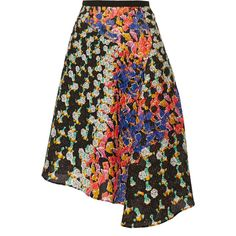 Peter Pilotto Bek printed matelassé midi skirt ($636) ❤ liked on Polyvore featuring skirts, midi skirt, pink, multicolor skirt, colorful midi skirts, peter pilotto, mid calf skirts and multi colored skirt