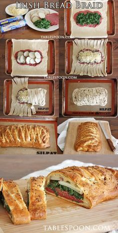 Irish Bread Braid... I will use fried cabbage instead of spinach - Food Recipes